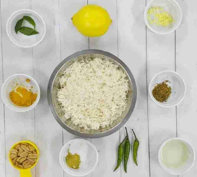 South Indian Lemon RIce Ingredients