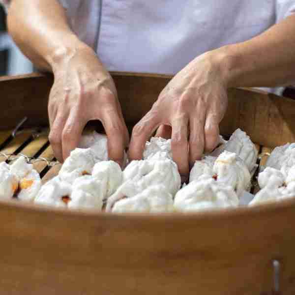 yum cha bbq pork bao with alchemy fibre