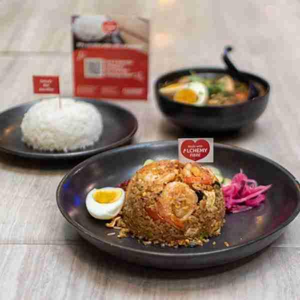 bangkok jam tom yum fried rice and braised pork