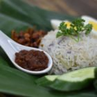 nasi lemak with alchemy fibre and sambal chili