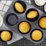 Alchemy Premix Muffins on baking tray