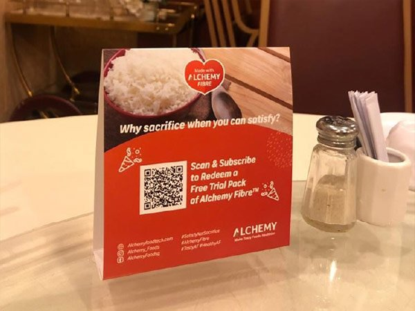 Table Tentcard at Ah Yat Seafood