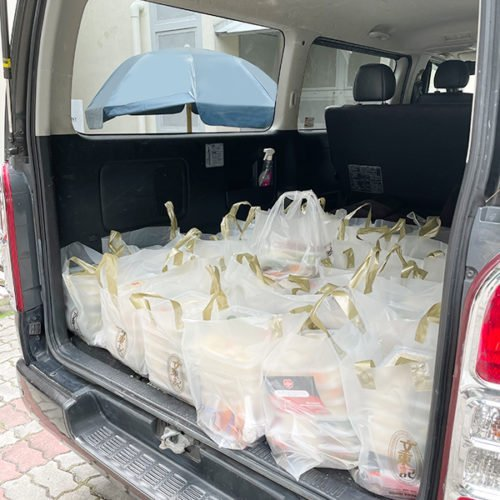 Thong Teck Home receiving rice meal pack